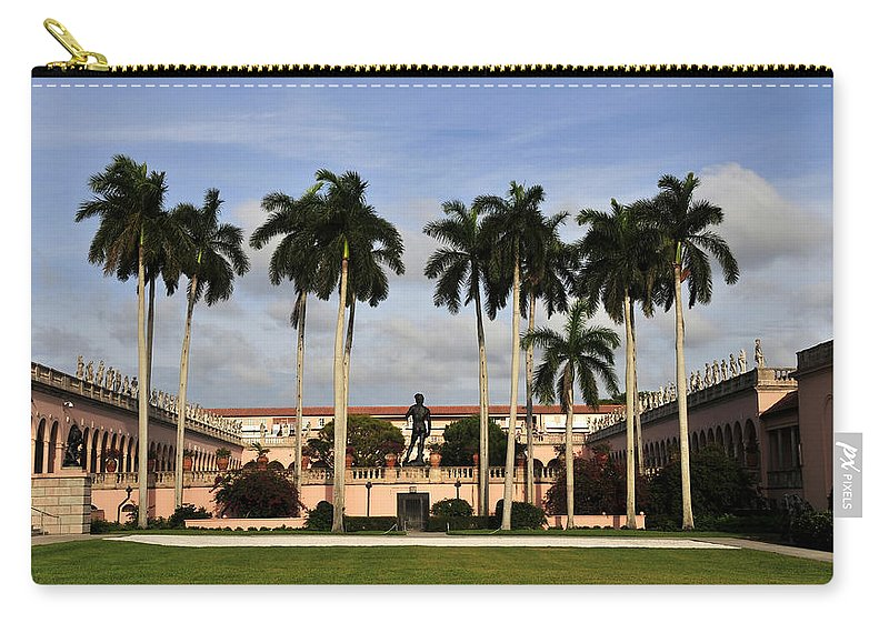 Fine Art Photography Carry-all Pouch featuring the photograph Thirteen Palms by David Lee Thompson