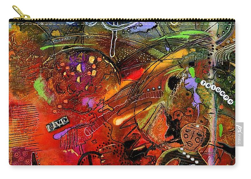 Women Carry-all Pouch featuring the mixed media This Doll Loves Art by Angela L Walker