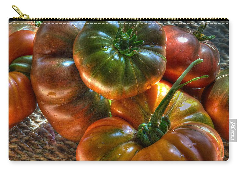 Heirloom Tomatoes Carry-all Pouch featuring the photograph This Summer by Joe Schofield