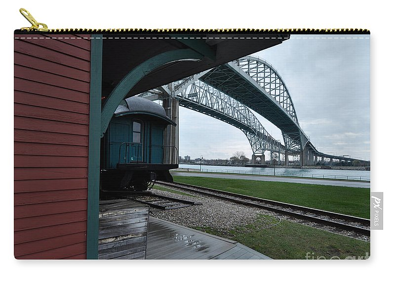 Depot Carry-all Pouch featuring the photograph Thomas Edison Depot And Blue Water Bridges 2012 by Ronald Grogan