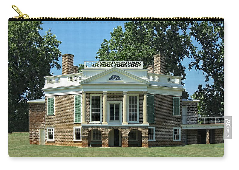 Poplar Forest Carry-all Pouch featuring the photograph Thomas Jeffersons Poplar Forest by Teresa Mucha