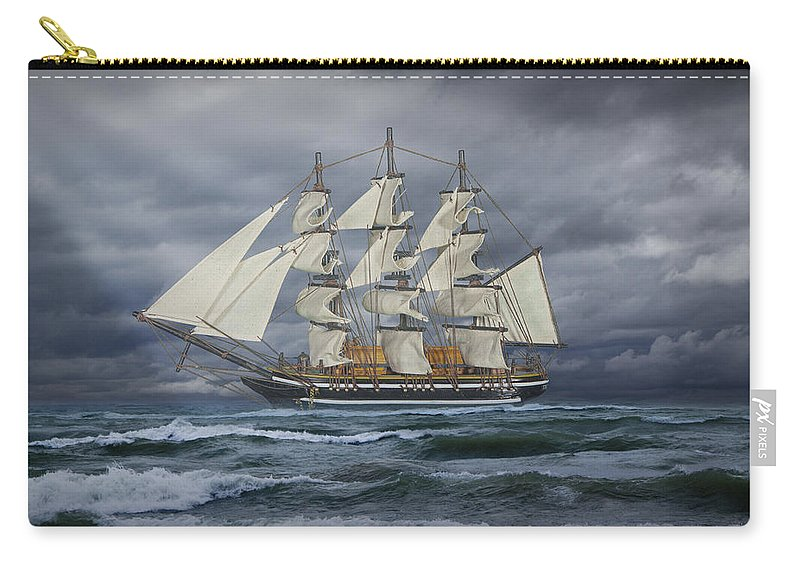 Art Carry-all Pouch featuring the photograph Three Masted Ship by Randall Nyhof