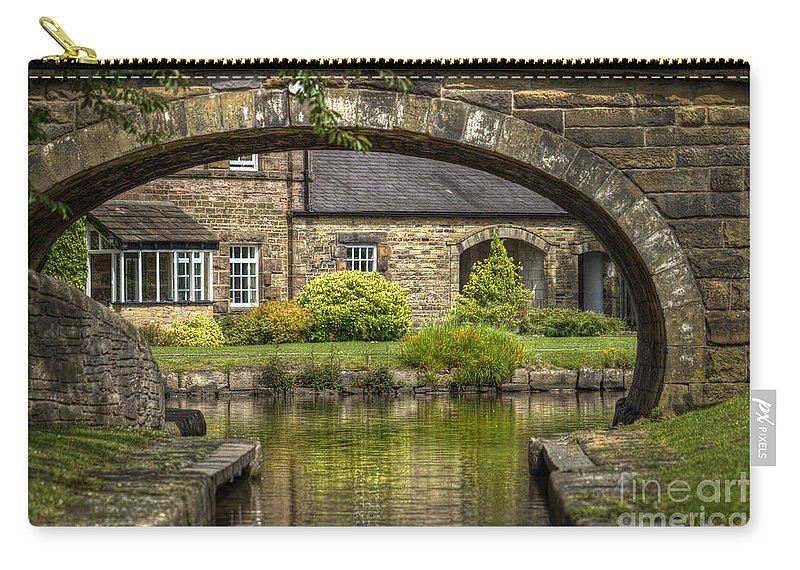 Bridge Carry-all Pouch featuring the photograph Through The Arch... by Clare Bambers