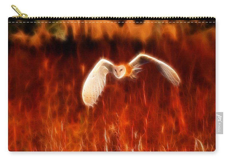 Barn Owl Carry-all Pouch featuring the photograph Through The Fire by Beth Sargent