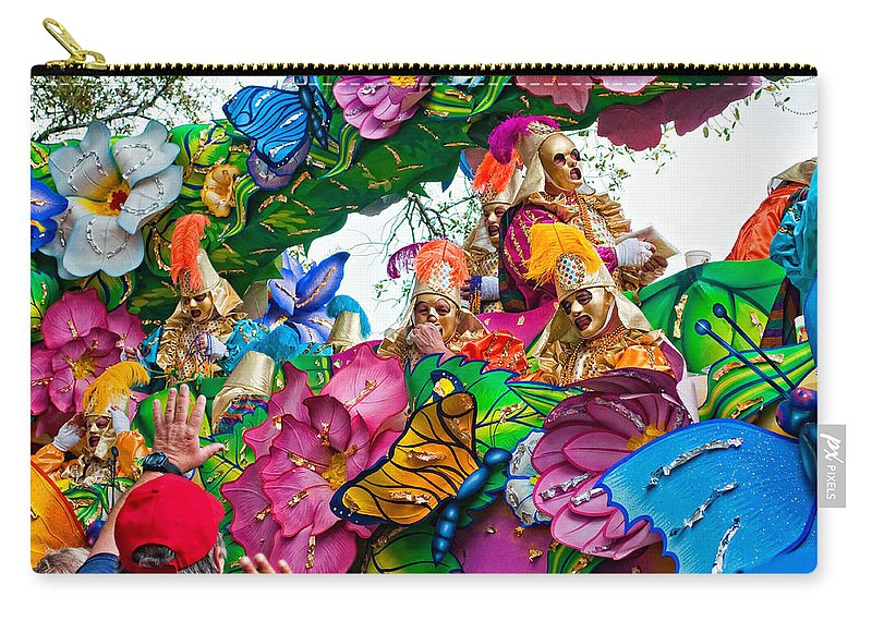 New Orleans Carry-all Pouch featuring the photograph Throw Me Something Mister by Steve Harrington