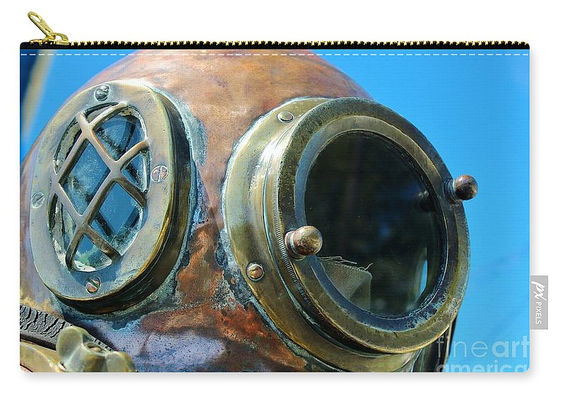 Dive Helmet Carry-all Pouch featuring the photograph Thru The Peep Hole by Rene Triay Photography