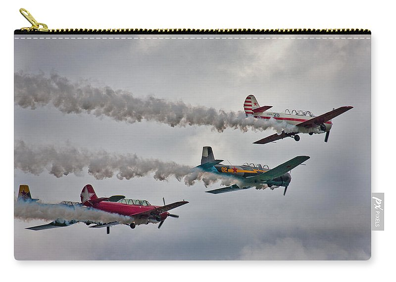 Airplane Carry-all Pouch featuring the photograph Thunder by Betsy Knapp