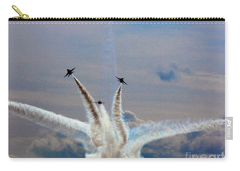 Jet Carry-all Pouch featuring the photograph Thunderbird Starburst by Kevin Fortier