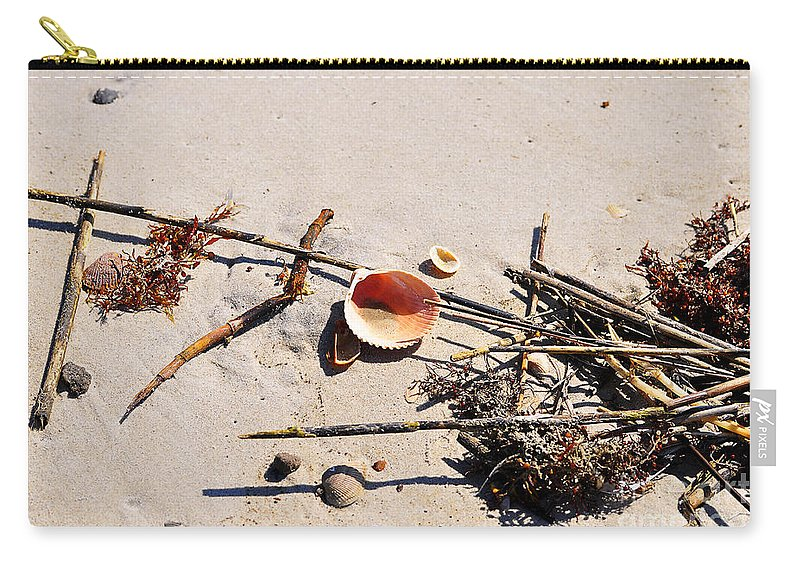 Shell Carry-all Pouch featuring the photograph Tidal Treasures by Al Powell Photography USA