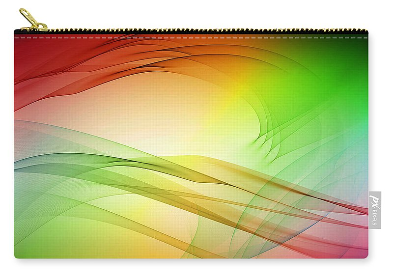 Tidal Carry-all Pouch featuring the digital art Tidal Wave by Angelina Vick
