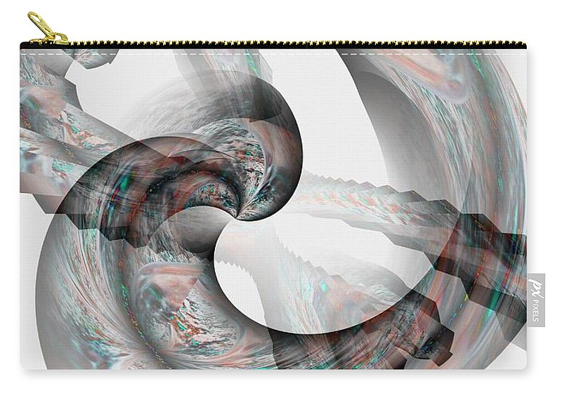 Tie Carry-all Pouch featuring the digital art Tied The Knot by Maria Urso