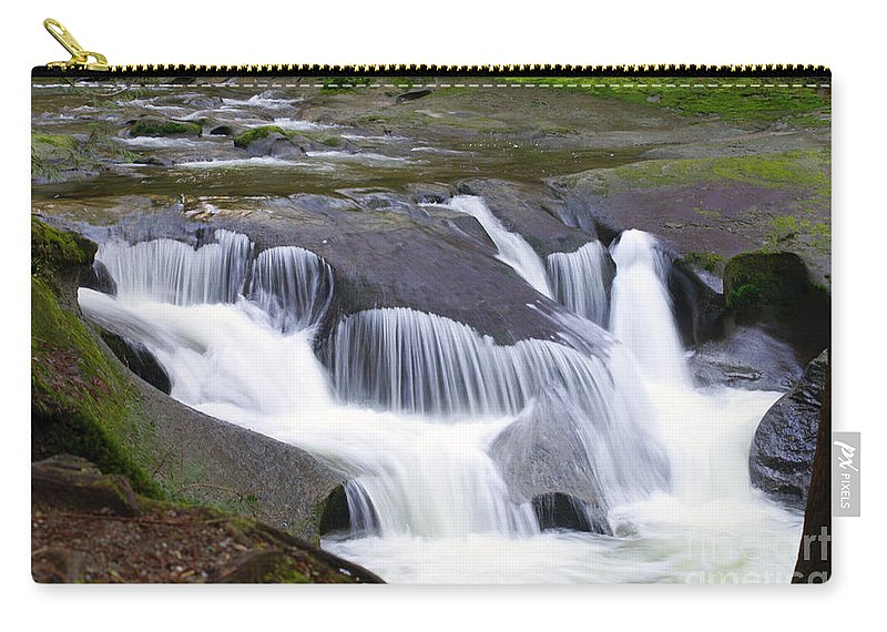 Waterfalls Carry-all Pouch featuring the photograph Tiered Waterfals by Randy Harris