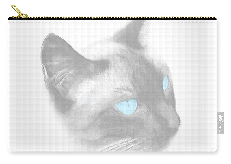 Cats Carry-all Pouch featuring the digital art Tiffany by Gabriele Ervin