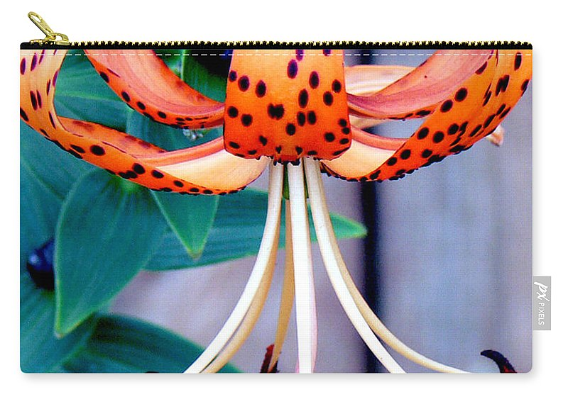 Flower Carry-all Pouch featuring the photograph Tiger Lily by Ericamaxine Price