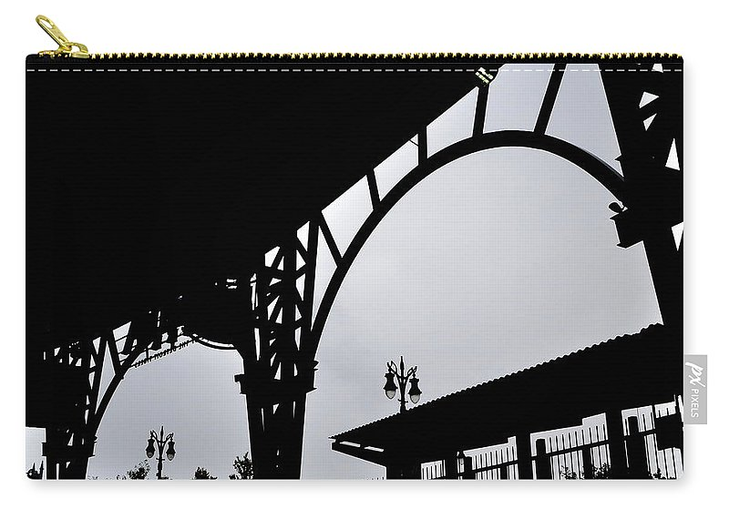 Detroit Carry-all Pouch featuring the photograph Tiger Stadium Silhouette by Michelle Calkins