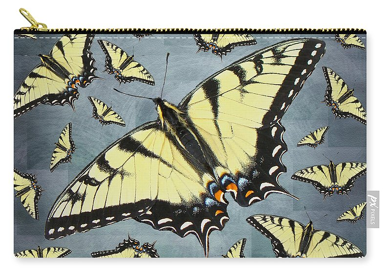 Butterfly Carry-all Pouch featuring the photograph Tiger Swallowtail Butterfly by Mother Nature