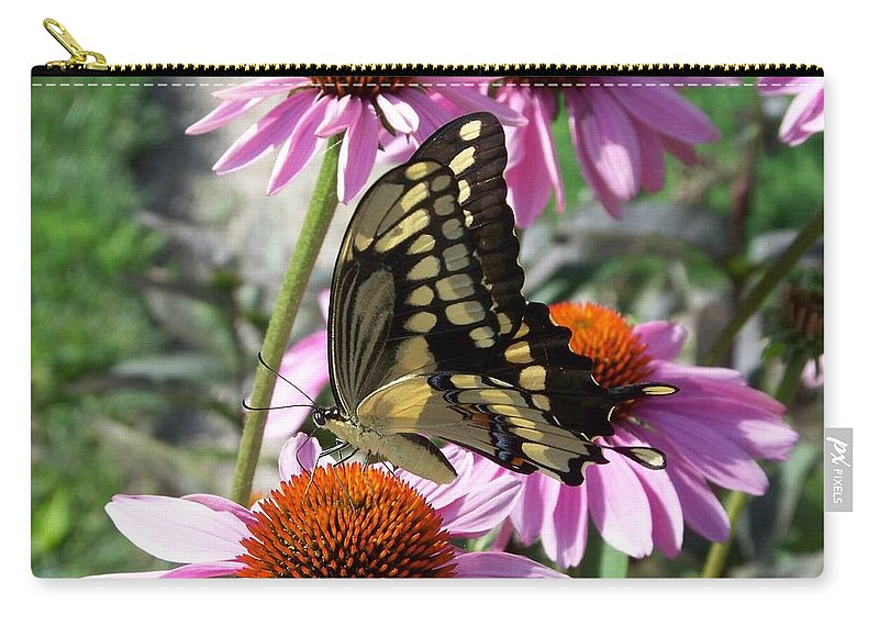 Butterfly Carry-all Pouch featuring the photograph Tiger Swallowtail by Linda Francis