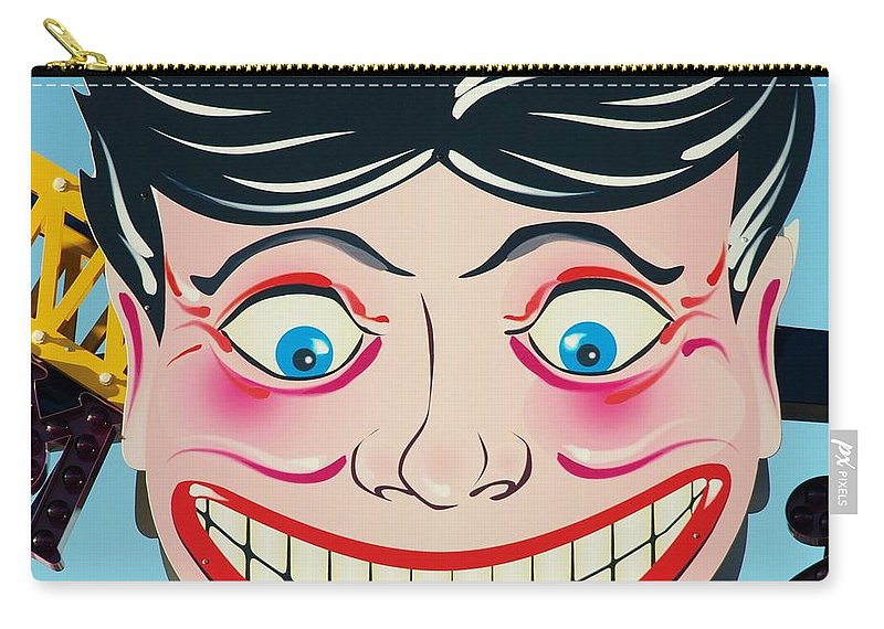 Brooklyn Carry-all Pouch featuring the photograph TILLIE THE CLOWN of CONEY ISLAND by Rob Hans