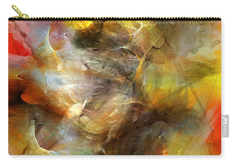 Fine Art Carry-all Pouch featuring the digital art Time Storm by David Lane