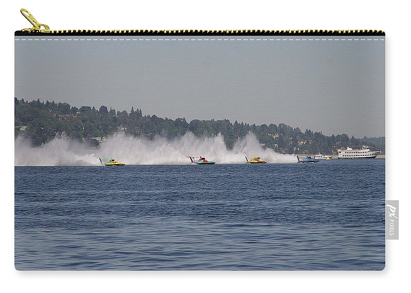Racing Carry-all Pouch featuring the photograph Time To Race by Michael Merry