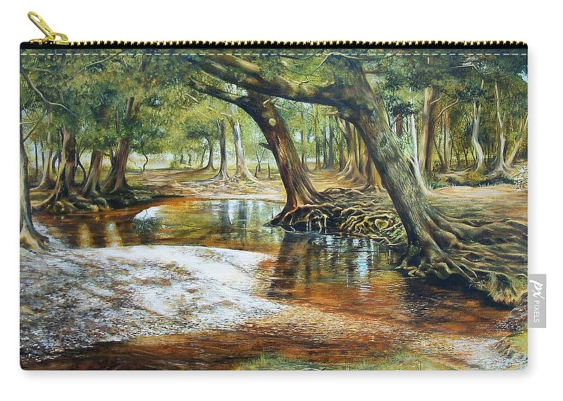 Nature Carry-all Pouch featuring the painting Time To Reflect by Penny Golledge