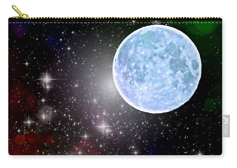 Blue Moon Carry-all Pouch featuring the photograph Time Travel by Marianna Mills