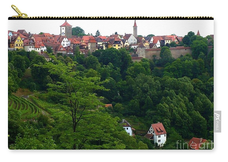 Rothenburg Carry-all Pouch featuring the photograph Timeless Rothenburg by Carol Groenen