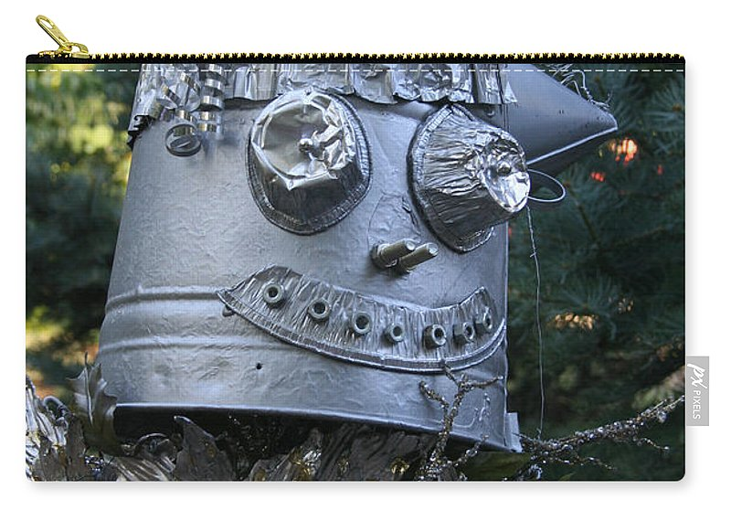 Fall Carry-all Pouch featuring the photograph Tinman Scarecrow by Susan Herber