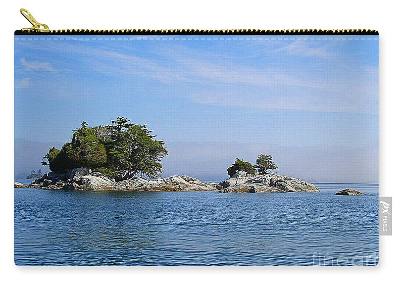 Islands Carry-all Pouch featuring the photograph Tiny Island Off Vancouver Island by Randy Harris