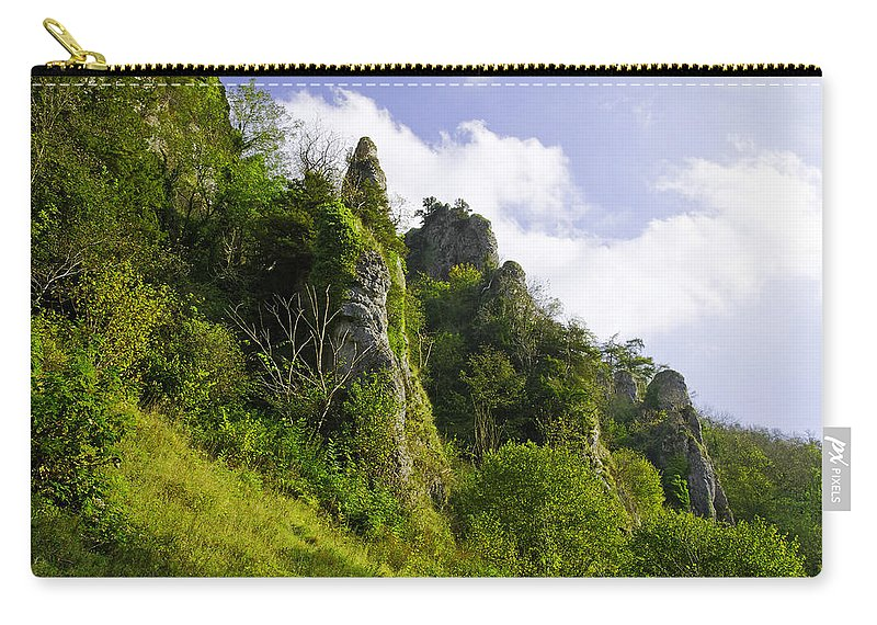 Dovedale Carry-all Pouch featuring the photograph Tissington Spires by Rod Johnson