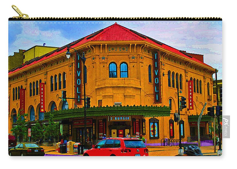 Tivoli Carry-all Pouch featuring the photograph Tivoli Theatre by Jost Houk