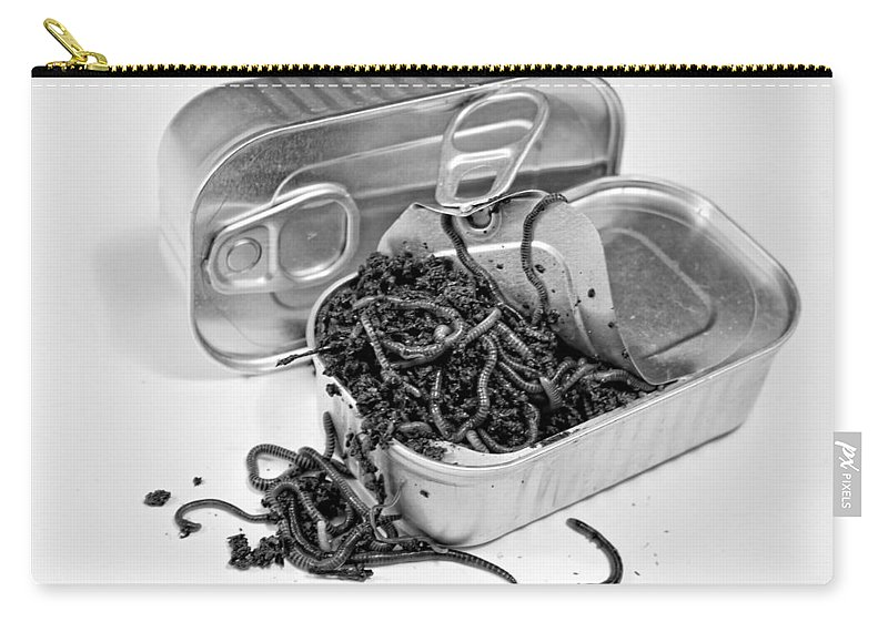 Artistic View Carry-all Pouch featuring the photograph To Open A Can Of Worms by Ronel Broderick