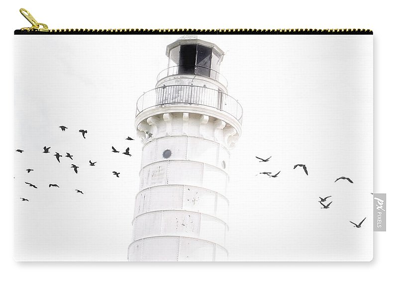 Lighthouse Carry-all Pouch featuring the photograph To The Lighthouse by Joel Witmeyer