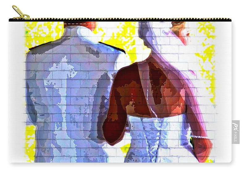 Wedding Couple Abstract Navy Whites Love Carry-all Pouch featuring the photograph To Thee I Wed by Alice Gipson