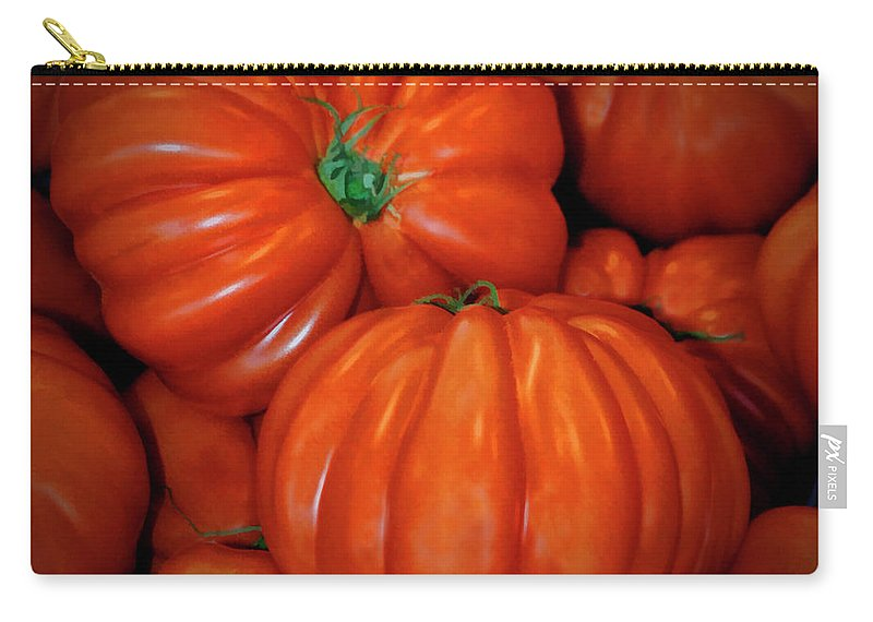 Tomato Carry-all Pouch featuring the photograph Tomato by Dave Mills