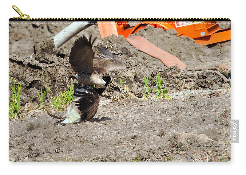 Wildlife Carry-all Pouch featuring the photograph Too Close by Edward Peterson