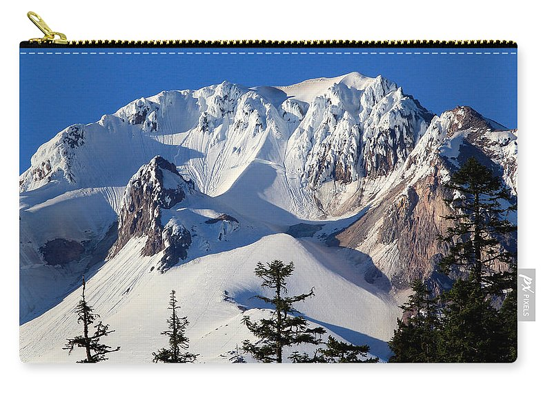 Mount Hood Carry-all Pouch featuring the photograph Top Of Mt. Hood by Athena Mckinzie