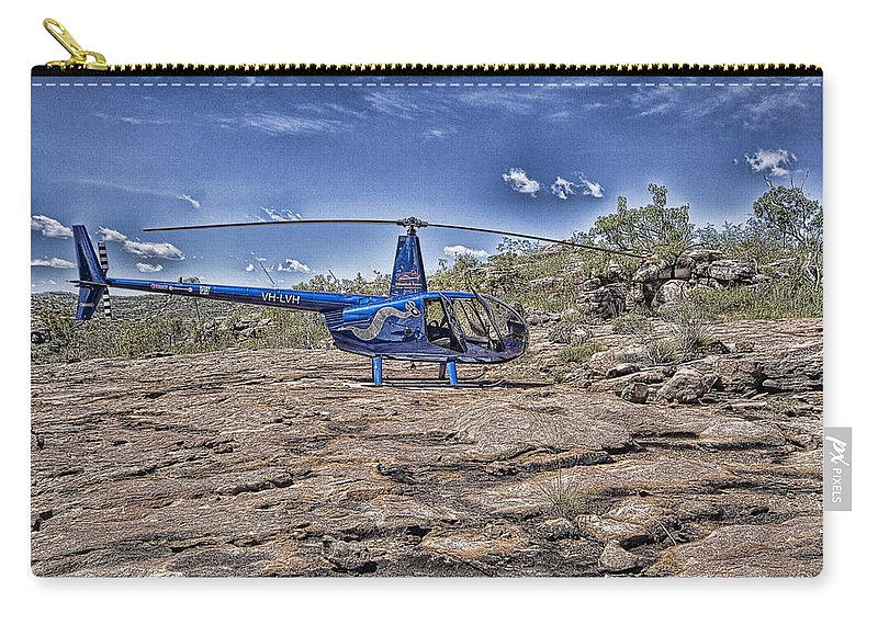 Helicopter Carry-all Pouch featuring the photograph Top of the Gorge by Douglas Barnard