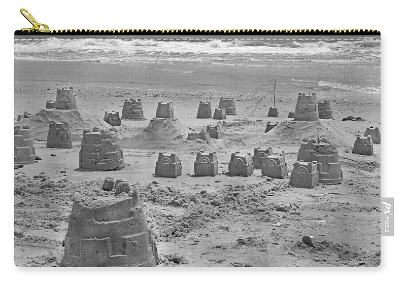 Topsail Carry-all Pouch featuring the photograph Topsail Island Sandcastle by Betsy Knapp