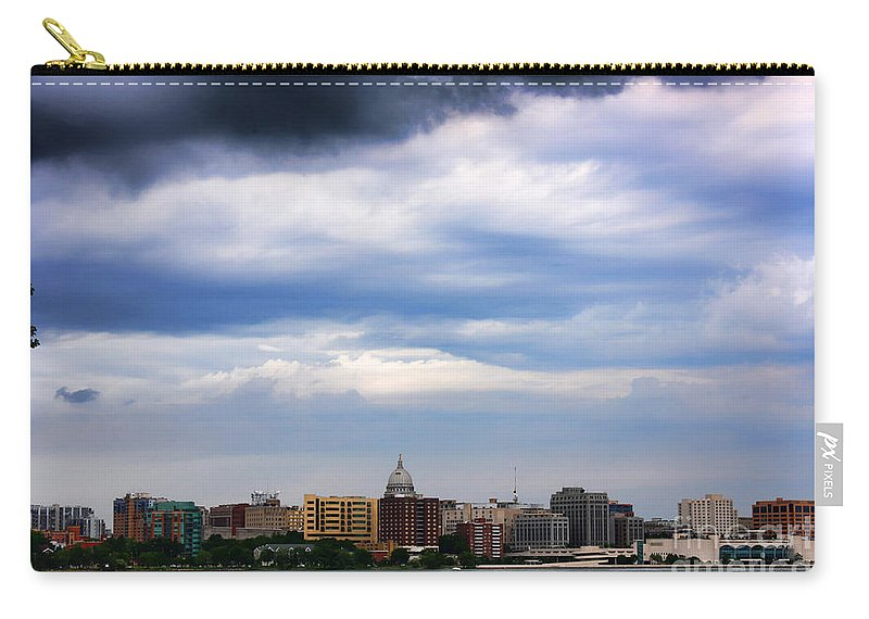 Madison Carry-all Pouch featuring the photograph Tornado Over The Capitol by Tommy Anderson