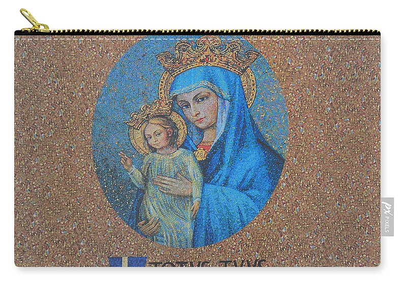 Totvs Tvvs - Jesus And Mary Carry-all Pouch featuring the photograph Totvs Tvvs - Jesus And Mary by Bill Cannon