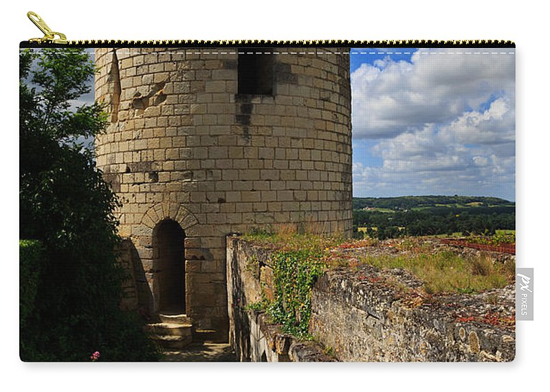 Tour Du Moulin Carry-all Pouch featuring the photograph Tour Du Moulin At Chateau Chinon by Louise Heusinkveld