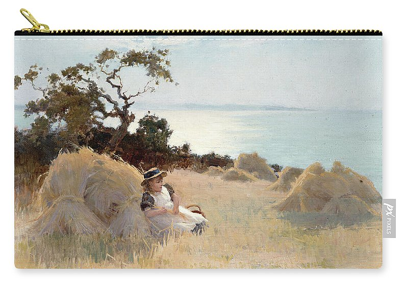 Towards Evening Carry-all Pouch featuring the painting Towards Evening by Arthur Claude Strachan