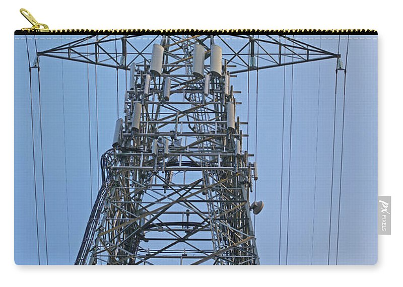Towers Carry-all Pouch featuring the photograph Towers And Lines by Randy Harris
