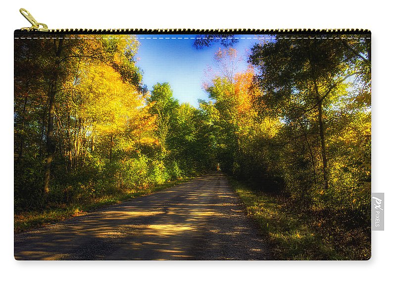Ontario Carry-all Pouch featuring the photograph Townline Road by John Herzog