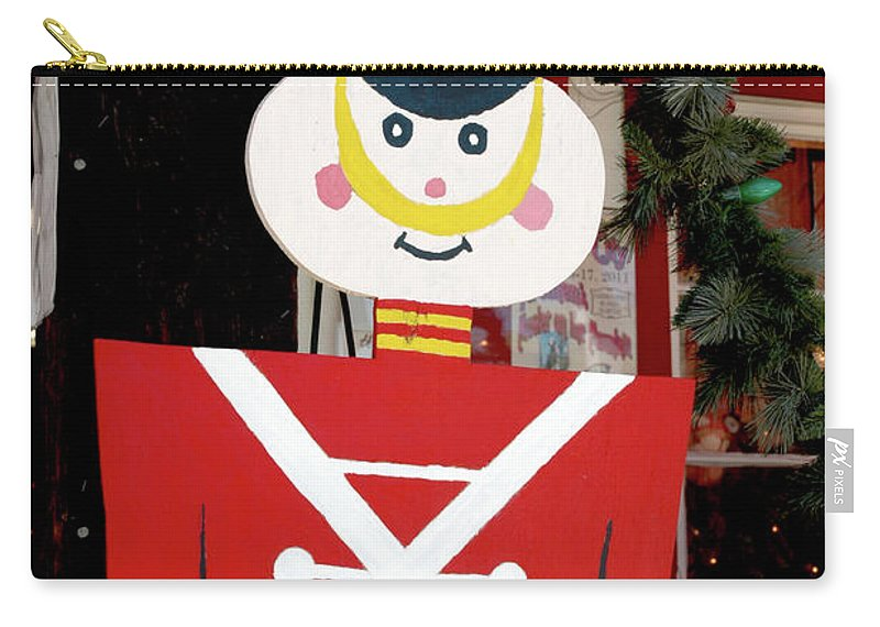 Christmas Carry-all Pouch featuring the photograph Toy Soldier Christmas In Virginia City by LeeAnn McLaneGoetz McLaneGoetzStudioLLCcom