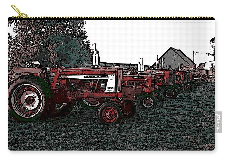 Tractor Carry-all Pouch featuring the photograph Tractor Row by George Pedro