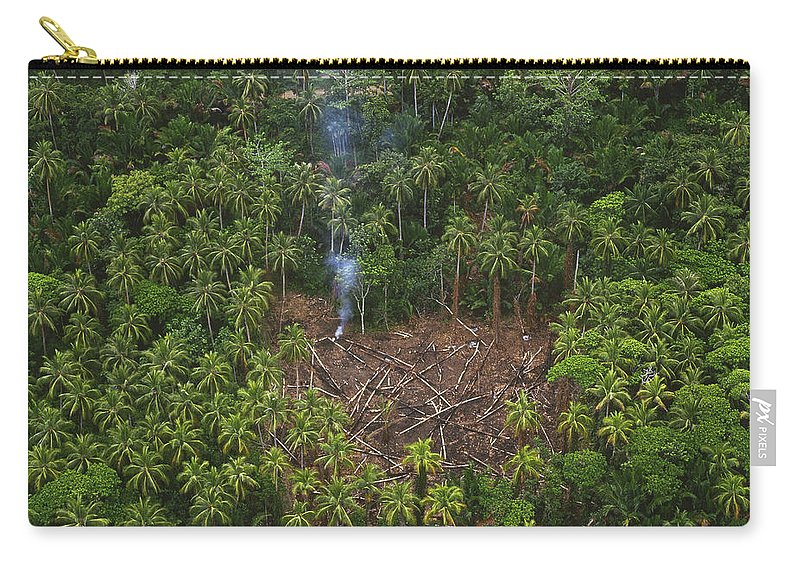 Mp Carry-all Pouch featuring the photograph Traditional Slash And Burn Clearcut by Gerry Ellis