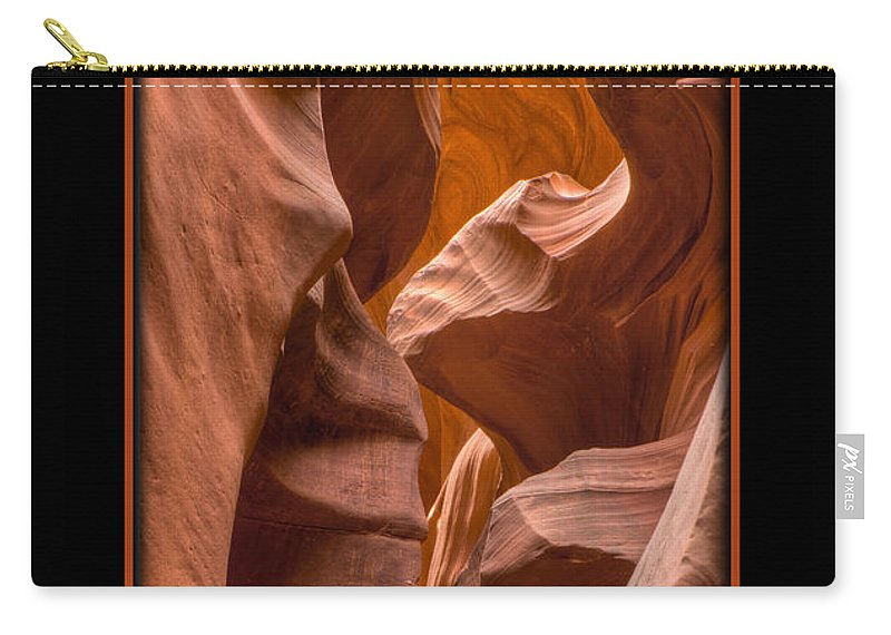 Antelope Canyon Carry-all Pouch featuring the photograph Trail by Larry White