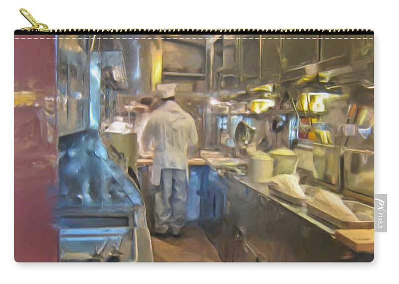Train Carry-all Pouch featuring the photograph Train Galley by Heidi Smith
